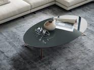 Tavolino basso ovale rotondo in marmo COSMOS | Tavolino ovale - Poliform