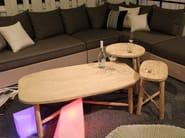 Oval teak side table COTTAGE | Side table - 7OCEANS DESIGNS