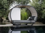 Double aluminium and wood garden daybed CRADLE | Garden daybed - Gloster