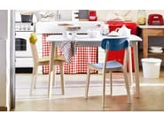 Extending wooden kitchen table CREAM | Rectangular table - Calligaris