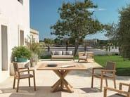 Square teak garden table CRONOS | Square table - Ethimo