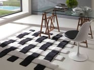 Contemporary style handmade square synthetic fibre rug CROSS | Handmade rug - Besana Moquette