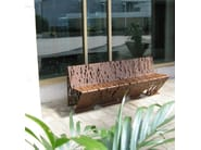 Galvanized steel Bench CROSSED | Bench - LAB23
