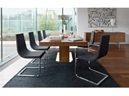 Cantilever upholstered leather chair CRUISER | Cantilever chair - Calligaris