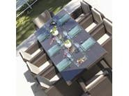 Tavolo da giardino rettangolare per contract CUATRO PACIFIQUE 2379 - SKYLINE design