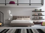 Upholstered fabric double bed CUBIC | Fabric bed - PIANCA