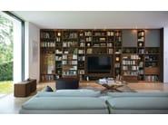 Open freestanding wooden bookcase CUBUS   Bookcase - TEAM 7 Natürlich Wohnen