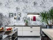 Cucina lineare in acciaio inox in stile moderno CUCINA 250 LEGNO | Cucina in stile moderno - ALPES-INOX