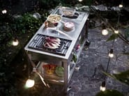 Gas Electric outdoor kitchen with Grill CUCINA OUTDOOR 130 – GRILL E FRIGGITRICE | Outdoor kitchen - ALPES-INOX
