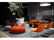 Fabric easy chair with removable cover CURVE - Tacchini Italia Forniture