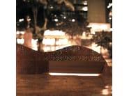 Steel and wood Bench CURVO - LAB23