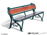Panchina in legno con schienale Panchina Carinzia - DIMCAR