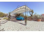 Wrought iron Carport Carport 1 - Garden House Lazzerini