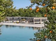 Modular wooden garden sofa COSTES   Modular sofa - Ethimo