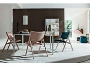 Design folding ash chair D.270.1 | Woven wicker chair - MOLTENI & C.