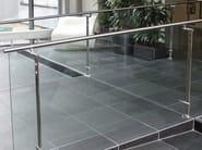 Parapetto in acciaio inox e vetro D LINE SPIGOT FIXING - Q-RAILING ITALIA