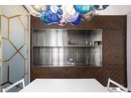 Steel and wood kitchen D90 | Rosewood kitchen - TM Italia Cucine