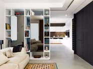 Storage wall with integrated lighting D90 / T30 | Storage wall - TM Italia Cucine