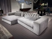 Sectional fabric sofa with chaise longue DAVID - ERBA ITALIA