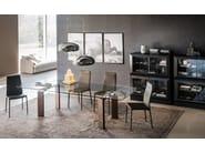 Extending rectangular crystal table DAYTONA - Cattelan Italia