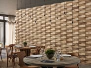 Indoor reclaimed wood wall tiles DB004158 | Wall tiles - Dialma Brown