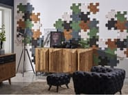 Indoor reclaimed wood wall tiles DB004173 | Wall tiles - Dialma Brown