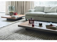 Low solid wood coffee table DECK - Lema