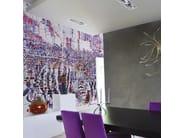 Contemporary style wallpaper DECODIFICAZIONE 3 - Inkiostro Bianco