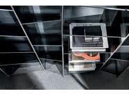 Freestanding modular glass bookcase DELPHI H. 190 - SOVET ITALIA
