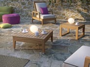 Low square teak coffee table DESERT   Low coffee table - Atmosphera