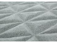 Handmade rectangular custom rug DIAMOND BLUE - EDITION BOUGAINVILLE