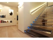 Straight cantilevered staircase DIAMOND | Cantilevered staircase - Siller Treppen