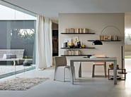 Rectangular glass and aluminium table DIAMOND - MOLTENI & C.