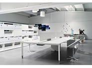 Sectional rectangular workstation desk DIAMOND | Workstation desk - Sinetica Industries