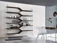 Open freestanding double-sided steel bookcase DIAPASON - ALIVAR