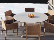 Tavolo da giardino rotondo in vetro DISCUS | Tavolo - ROYAL BOTANIA