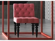 Tufted upholstered fabric easy chair DIVA - Imperial Line