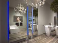 Wall-mounted mirror with integrated lighting DIVO - Antonio Lupi Design®