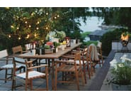 Batyline® garden chair with armrests DJURÖ | Batyline® garden chair - Skargaarden