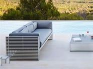 3 seater fabric garden sofa with removable cover DNA | 3 seater sofa - GANDIA BLASCO