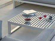 Tavolino rettangolare in alluminio DNA | Tavolino in alluminio - GANDIA BLASCO