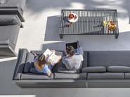 Rectangular aluminium coffee table DNA | Aluminium coffee table - GANDIA BLASCO