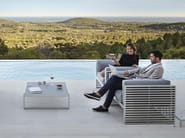 Rectangular aluminium coffee table DNA | Aluminium coffee table - GANDIA BLASCO