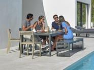 Tavolo da giardino rettangolare in alluminio DNA | Tavolo - GANDIA BLASCO