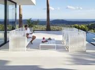 3 seater high-back fabric garden sofa DNA | High-back sofa - GANDIA BLASCO