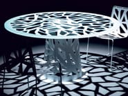 Round plate table DOMINO | Table - Esedra by Prospettive