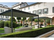 Iron gazebo with sliding cover DOMUS - UNOSIDER