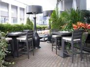 Tavolo alto da giardino rotondo DORIC   Tavolo alto - 7OCEANS DESIGNS