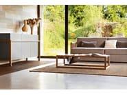 Rectangular solid wood coffee table DORSODURO | Solid wood coffee table - Varaschin