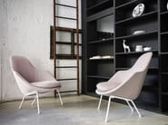 Upholstered fabric armchair with armrests DOT - Tacchini Italia Forniture